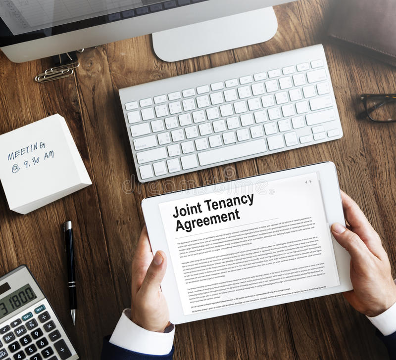 Joint Tenancy Agreement Property Renting Estate Concept.  stock images