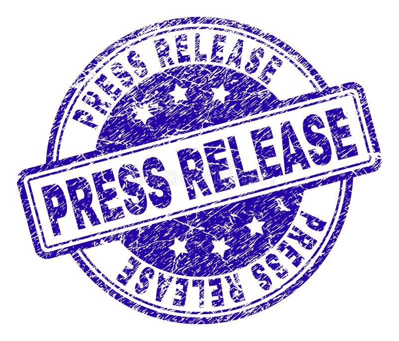 Joint texturisé grunge de timbre de COMMUNIQUÉ de PRESSE illustration stock