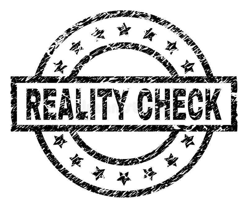 Joint texturisé grunge de timbre de CONFRONTATION AVEC LA RÉALITÉ illustration de vecteur