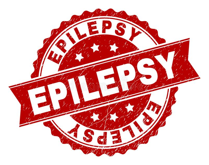 Joint texturisé grunge de timbre d'ÉPILEPSIE illustration libre de droits