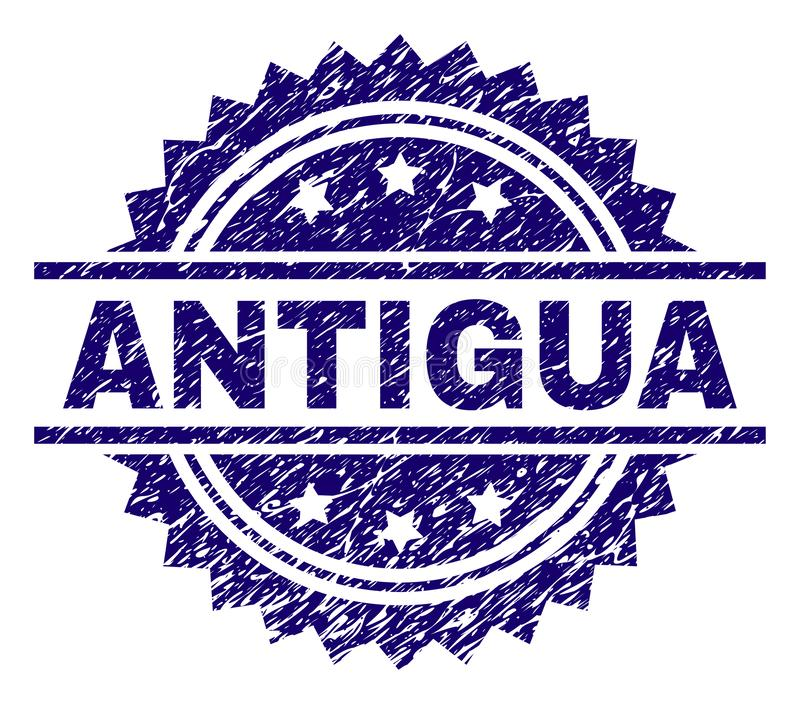 Joint texturisé grunge de timbre de l'ANTIGUA illustration stock