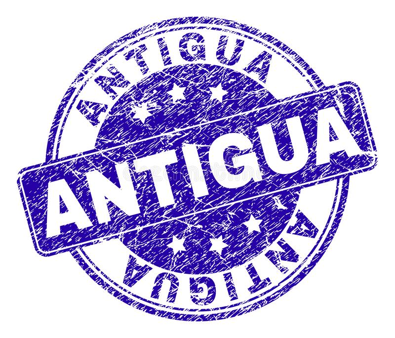 Joint texturisé grunge de timbre de l'ANTIGUA illustration libre de droits