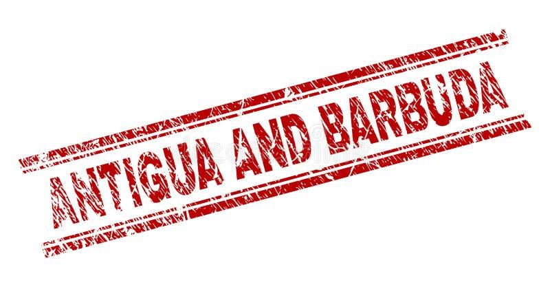 Joint texturisé grunge de timbre de l'ANTIGUA-ET-BARBUDA illustration libre de droits