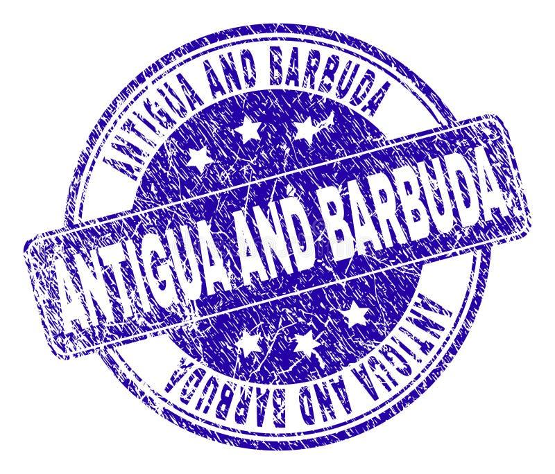 Joint texturisé grunge de timbre de l'ANTIGUA-ET-BARBUDA illustration stock