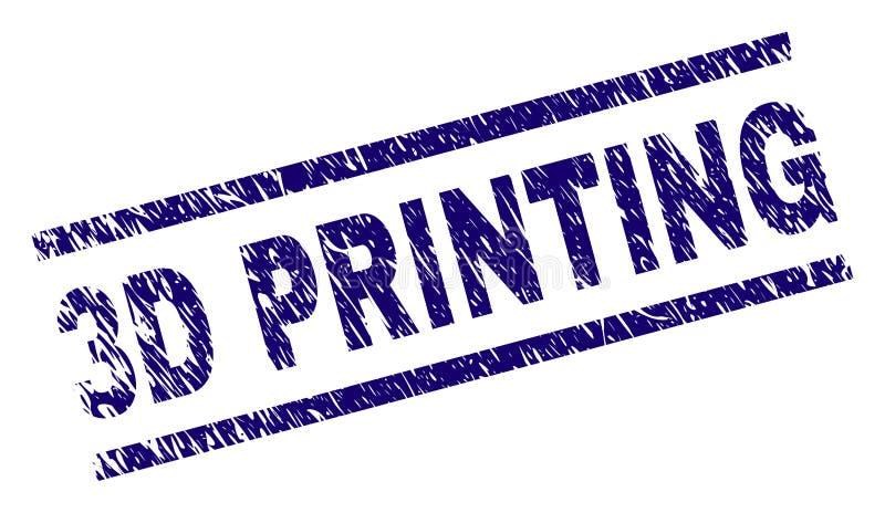 Joint texturisé grunge de timbre de l'IMPRESSION 3D illustration de vecteur