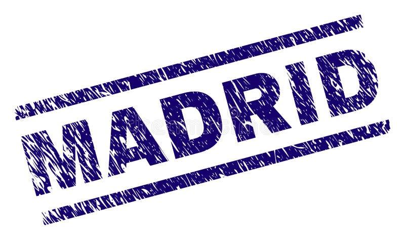 Joint texturisé grunge de timbre de MADRID illustration de vecteur