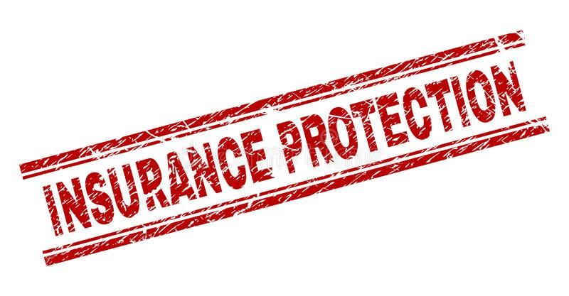 Joint texturisé grunge de timbre de PROTECTION d'ASSURANCE illustration libre de droits