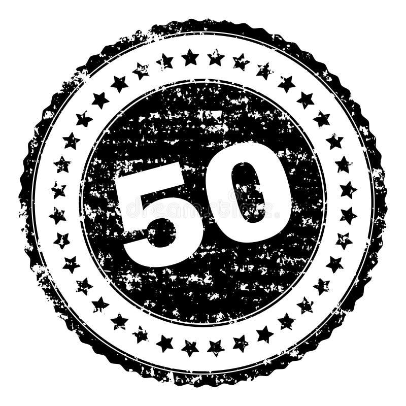 Joint texturisé grunge de 50 timbres illustration stock