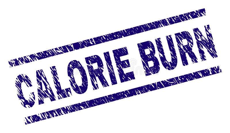 Joint texturisé rayé de timbre de BRÛLURE de CALORIE illustration stock