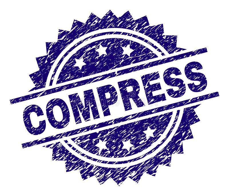 Joint texturisé rayé de timbre de COMPRESSE illustration libre de droits