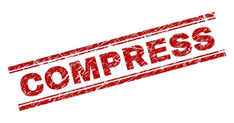 Joint texturisé rayé de timbre de COMPRESSE illustration stock