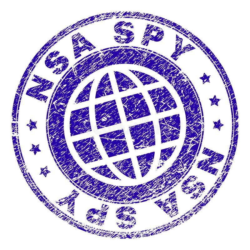 Joint texturisé rayé de timbre d'ESPION de NSA illustration de vecteur