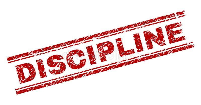 Joint texturisé rayé de timbre de DISCIPLINE illustration stock
