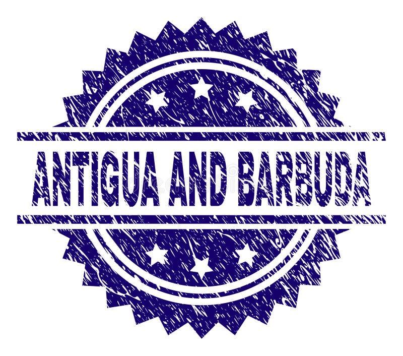 Joint texturisé rayé de timbre de l'ANTIGUA-ET-BARBUDA illustration libre de droits