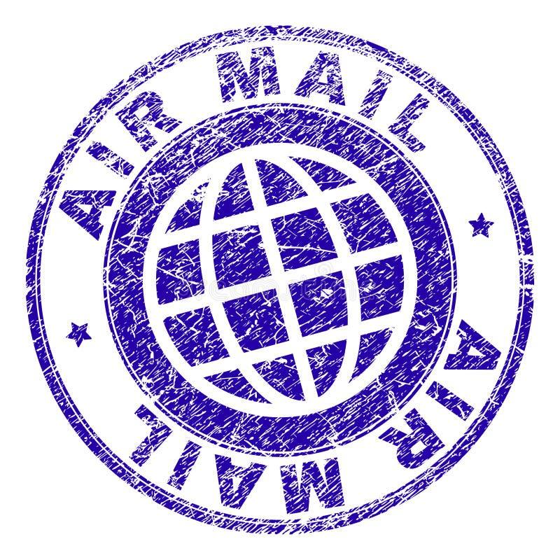 Joint texturisé rayé de timbre de la POSTE AÉRIENNE illustration de vecteur
