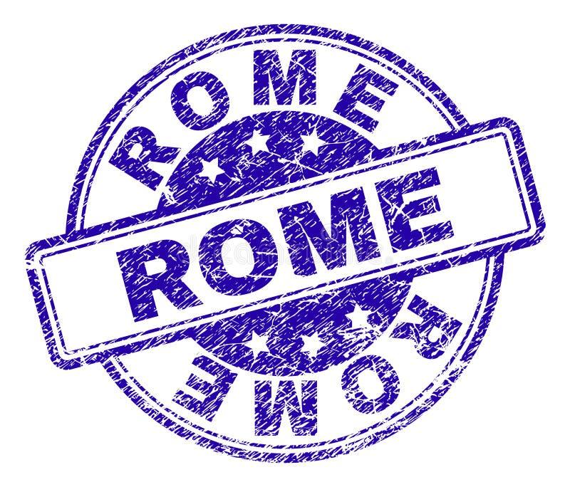 Joint texturisé rayé de timbre de ROME illustration libre de droits