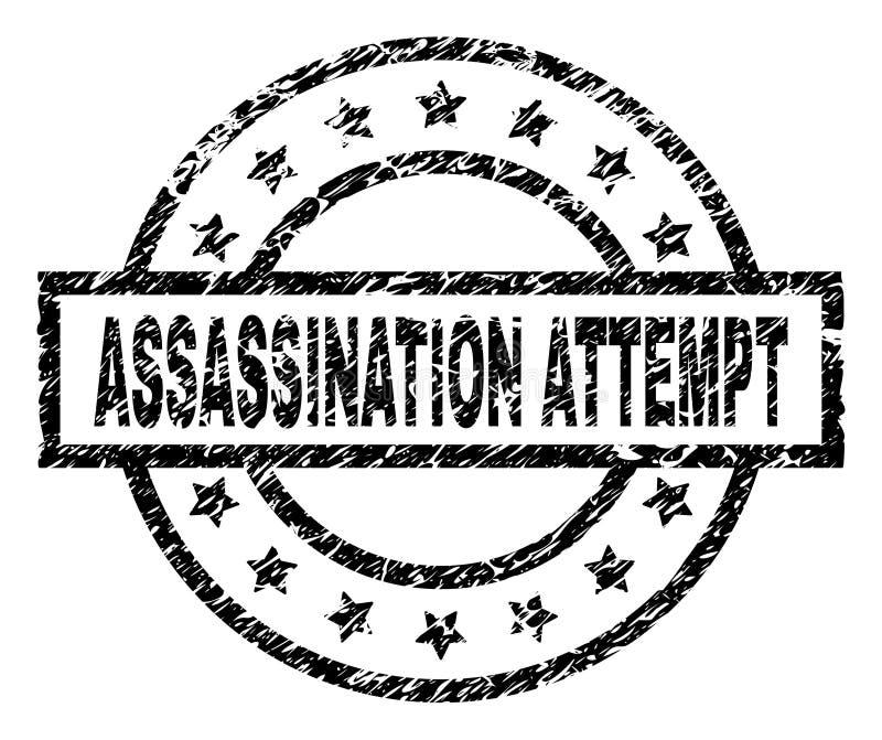 Joint texturisé rayé de timbre de TENTATIVE d'ASSASSINAT illustration de vecteur