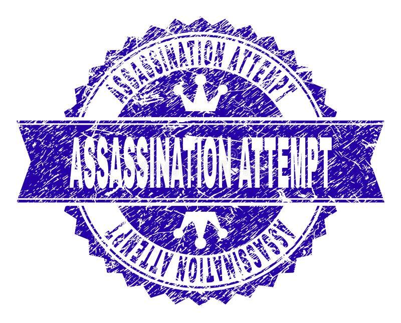 Joint texturisé rayé de timbre de TENTATIVE d'ASSASSINAT avec le ruban illustration libre de droits