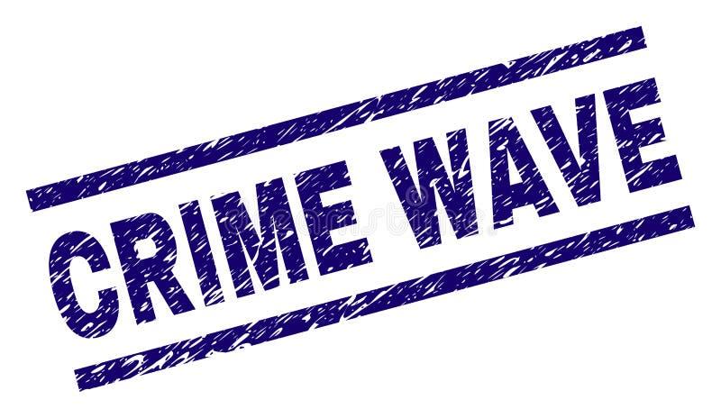 Joint texturisé rayé de timbre de VAGUE DE CRIMINALITÉ illustration libre de droits