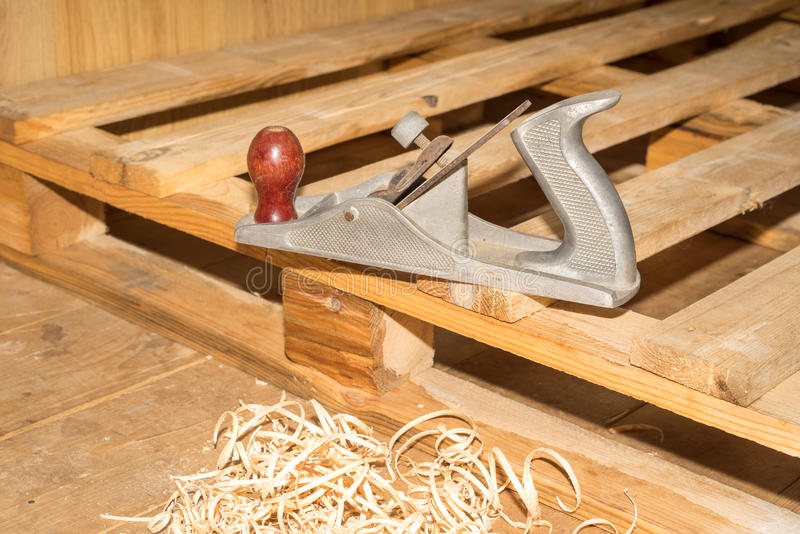 Jointer. Old wooden jointer carpenter tool royalty free stock photography