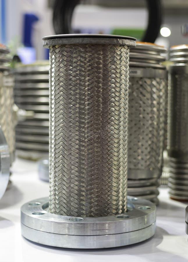 Joints de dilatation en métal pour le système sifflant photographie stock libre de droits
