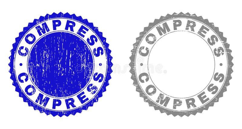 Joints de timbre rayés par COMPRESSE grunge illustration stock