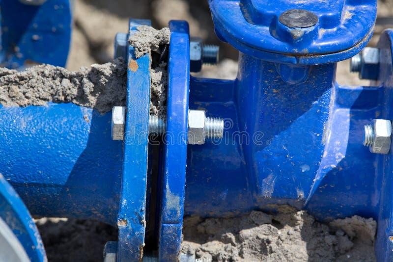 Joints de tuyau en métal photographie stock