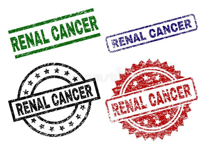 Joints RÉNAUX texturisés grunges de timbre de CANCER illustration de vecteur