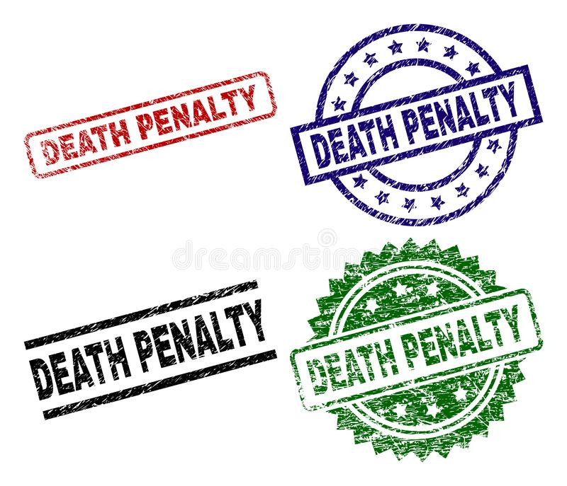 Joints texturisés endommagés de timbre-amende de PEINE DE MORT illustration de vecteur