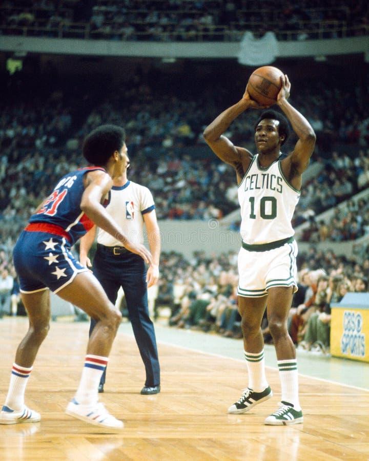 Jojo White, PÁGINA del salón de la fama para los Celtics de Boston fotografía de archivo