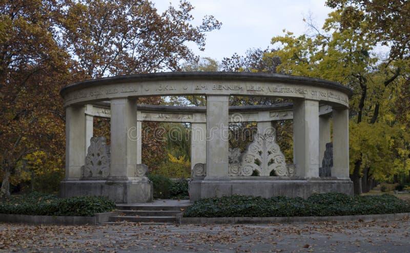 Jokai Mor& x27; s grobowiec w Kerepesi cmentarzu, obrazy stock