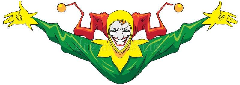 joker royaltyfri illustrationer