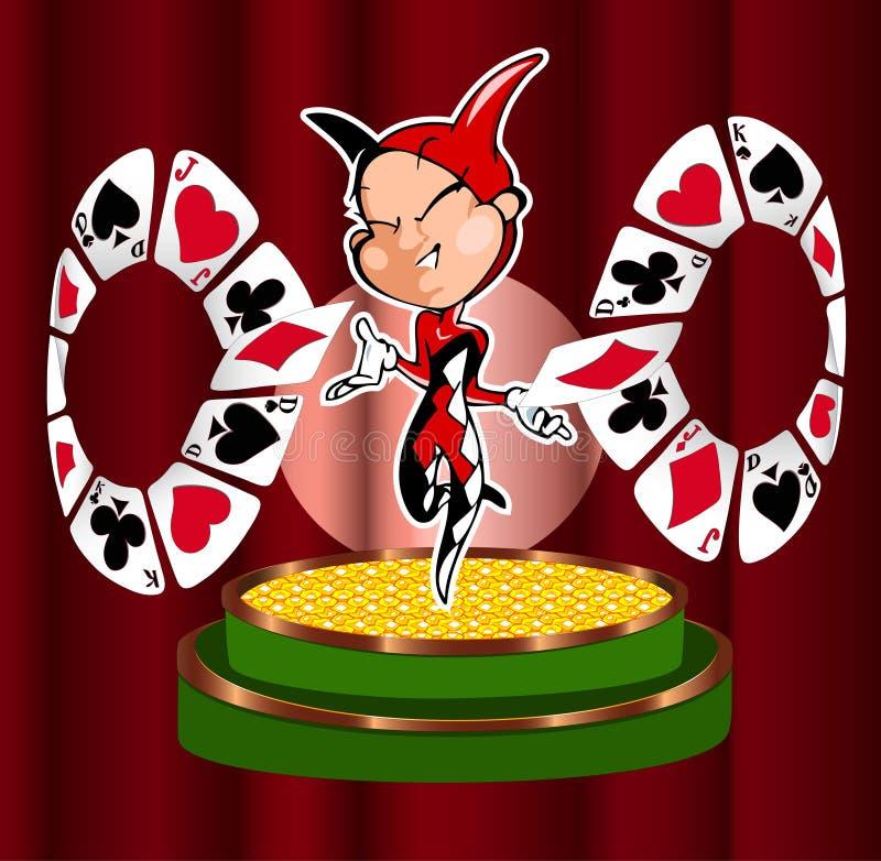 Download Joker stock vector. Illustration of decoration, luck - 18835862
