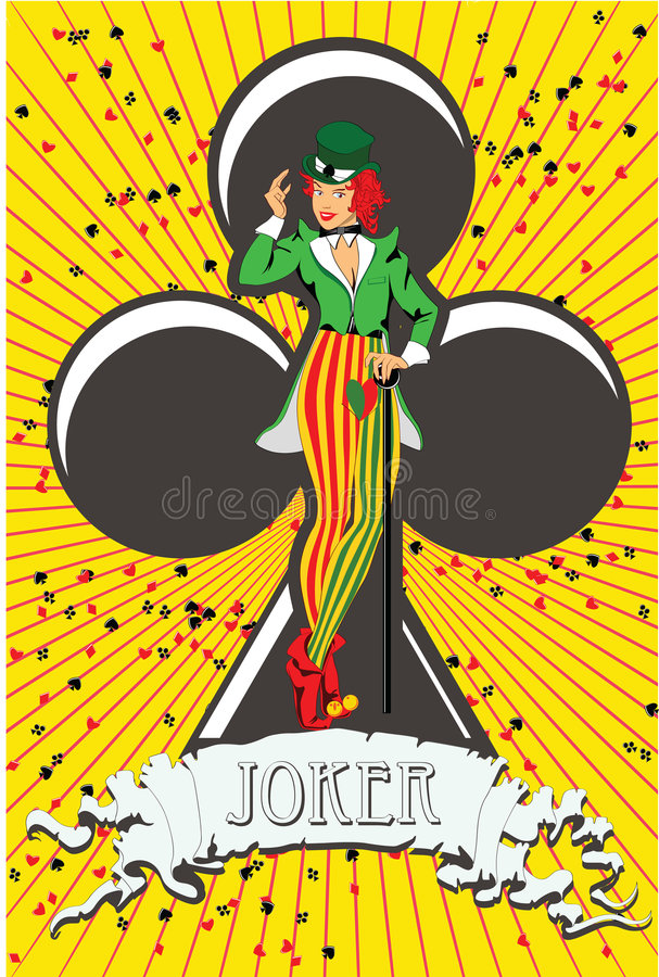 Download Joker stock vector. Image of illustration, joker, icon - 8827969