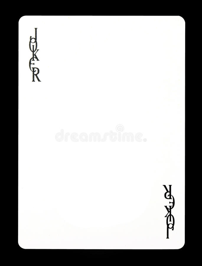 Joker colorless playing card, royalty free stock photography