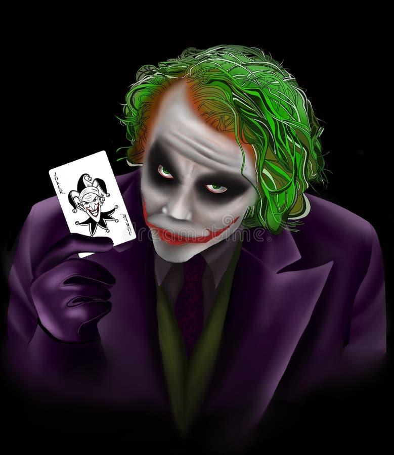 Joker de bande dessinée de DS illustration libre de droits