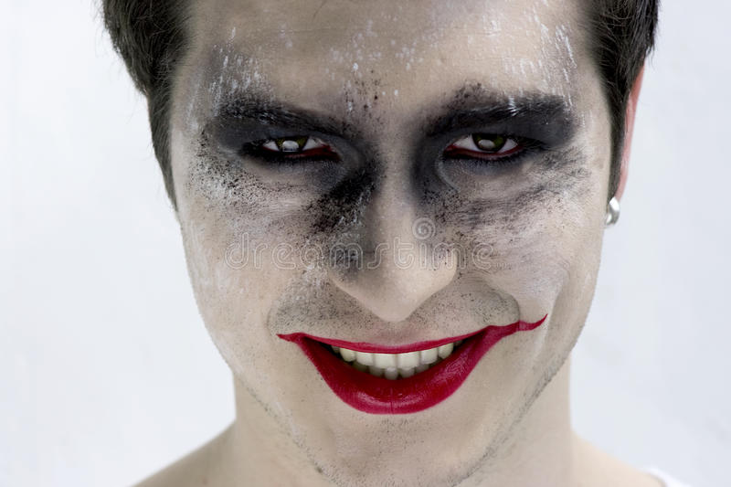 Joker face stock image