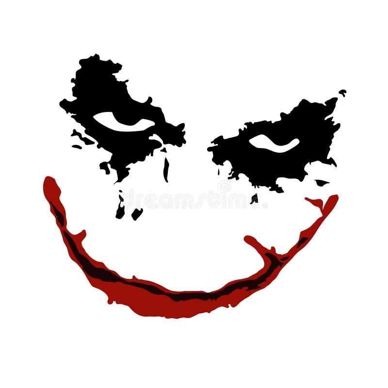joker face vector stock vector illustration of face