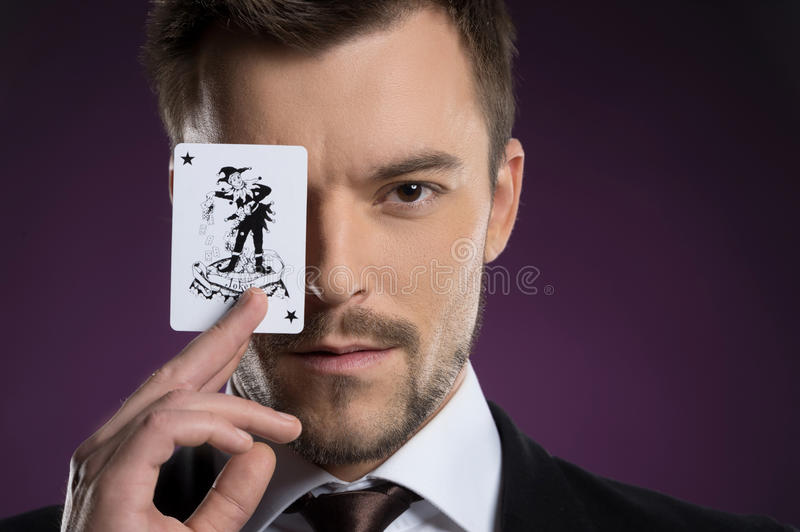 Joker man. stock photography