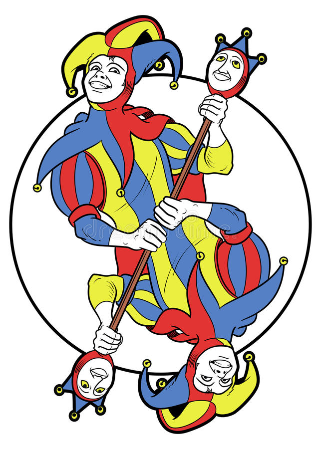 Joker Omkeerbaar in een cirkel vector illustratie