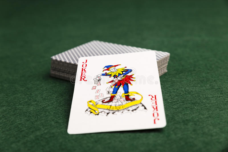 The Joker In The Pack stock photos