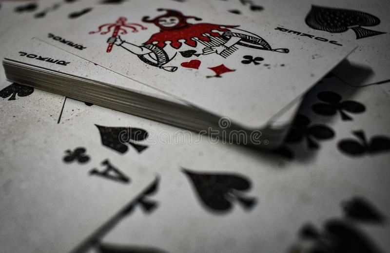 Joker in a playing card stock photos
