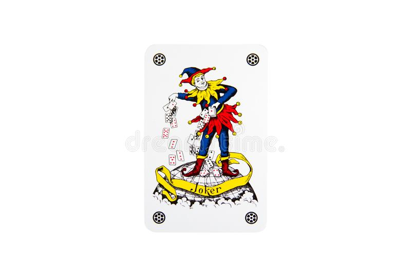 The Joker playing card royalty free stock photos