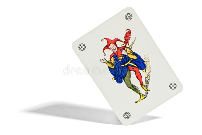 Joker som spelar kortet royaltyfria bilder