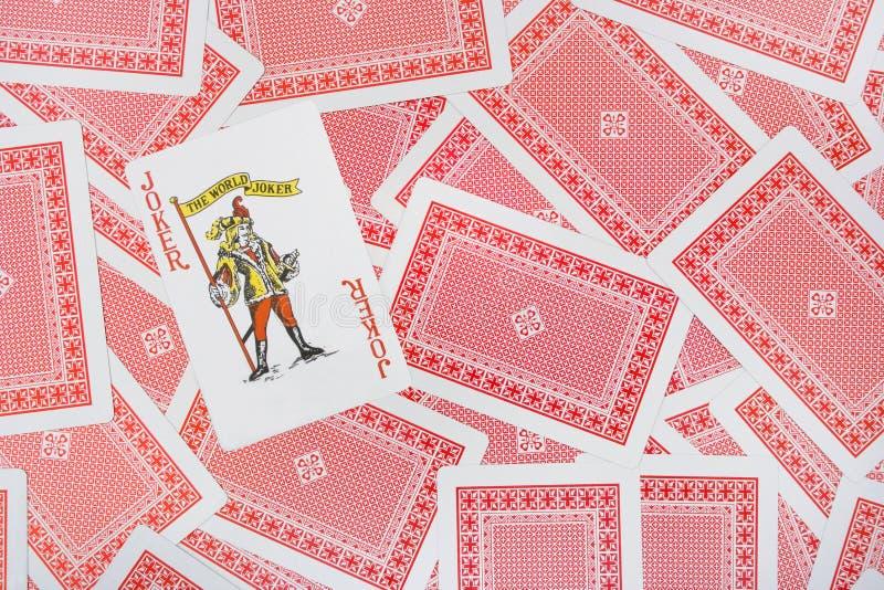 Joker sur des cartes de jeu photographie stock libre de droits