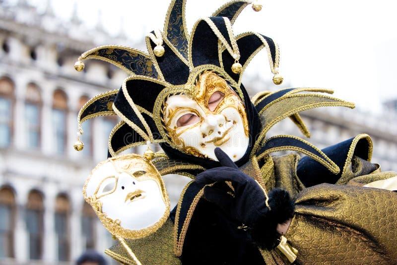 A joker at the Venice Carnival stock photo