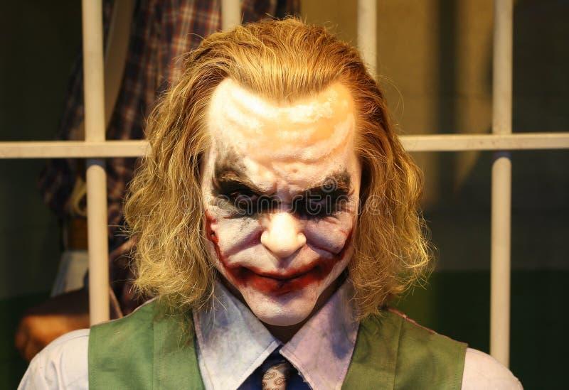 Joker w cela więzienna wosku przedstawicielstwie obraz royalty free