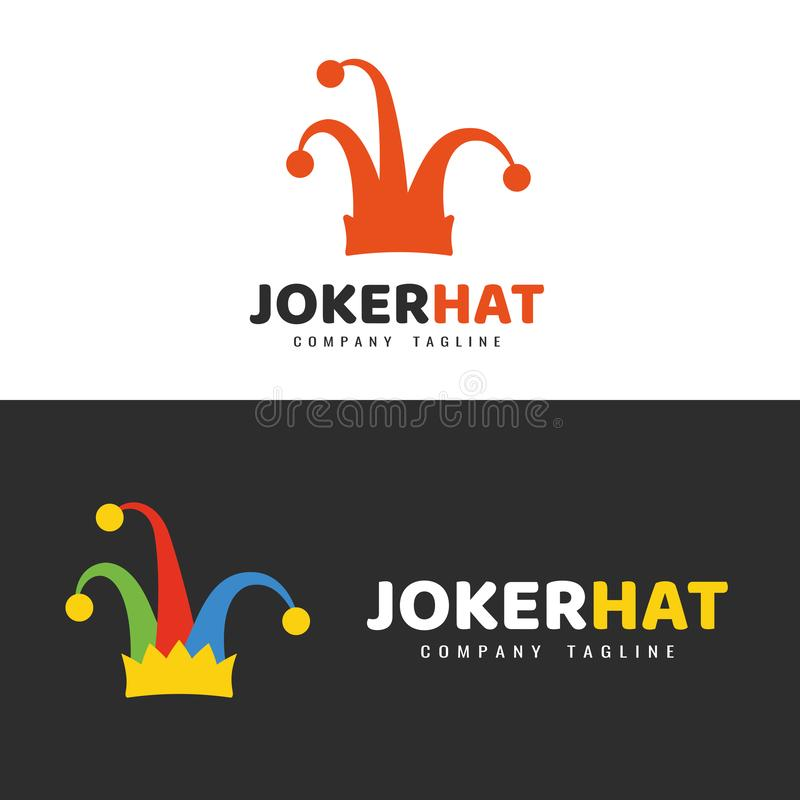 Jokerhattlogo vektor illustrationer
