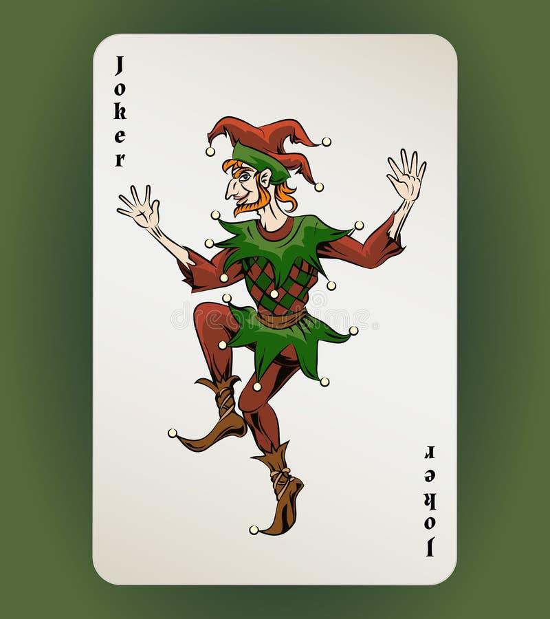Jokerkaart stock illustratie