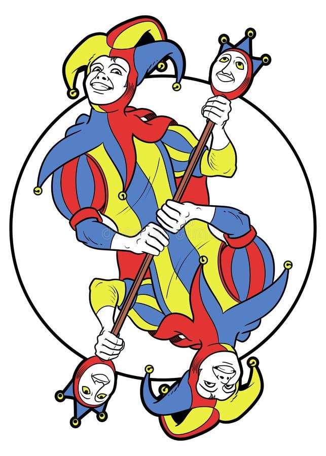 JokerReversible i en cirkel vektor illustrationer